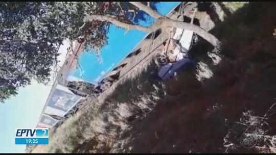 Motorista sobrevive a 2 acidentes, com carro e trem, no mesmo dia em Fernando Prestes, SP