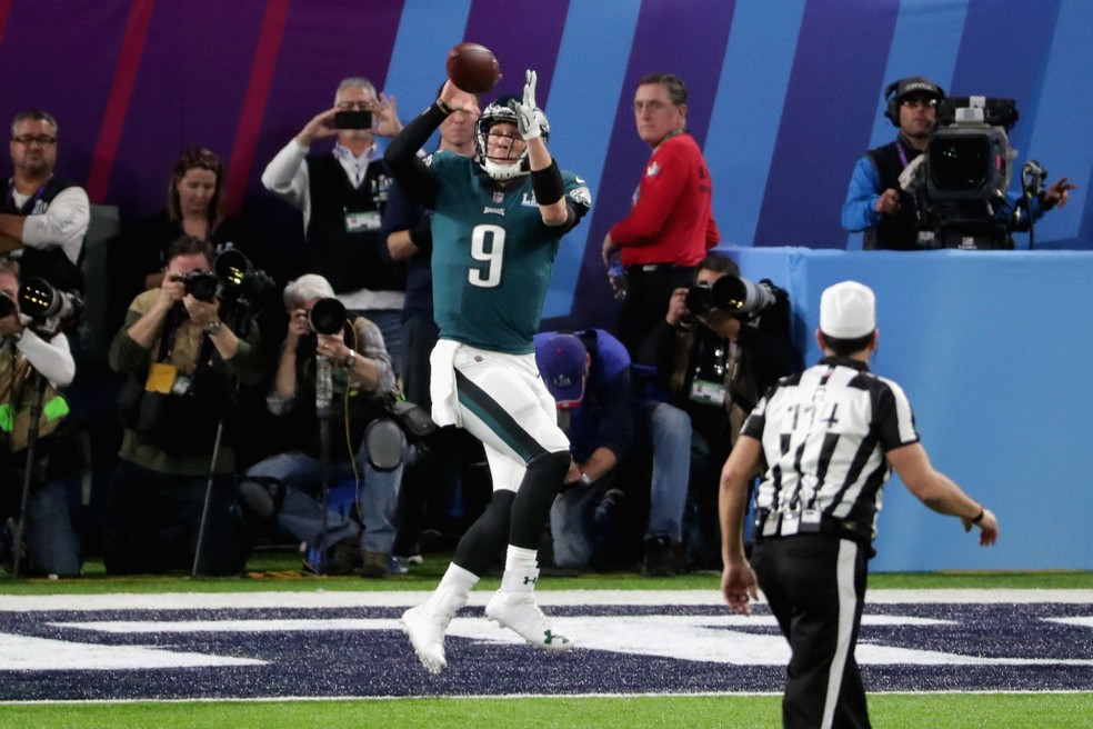 Touchdown Nick Foles - Super Bowl LII (Foto: Streeter Lecka/Getty Images)