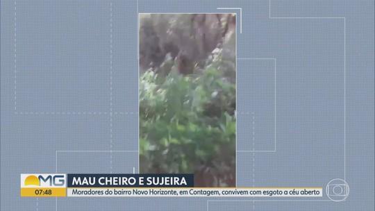 Moradores reclamam do esgoto a céu aberto em bairro de Contagem