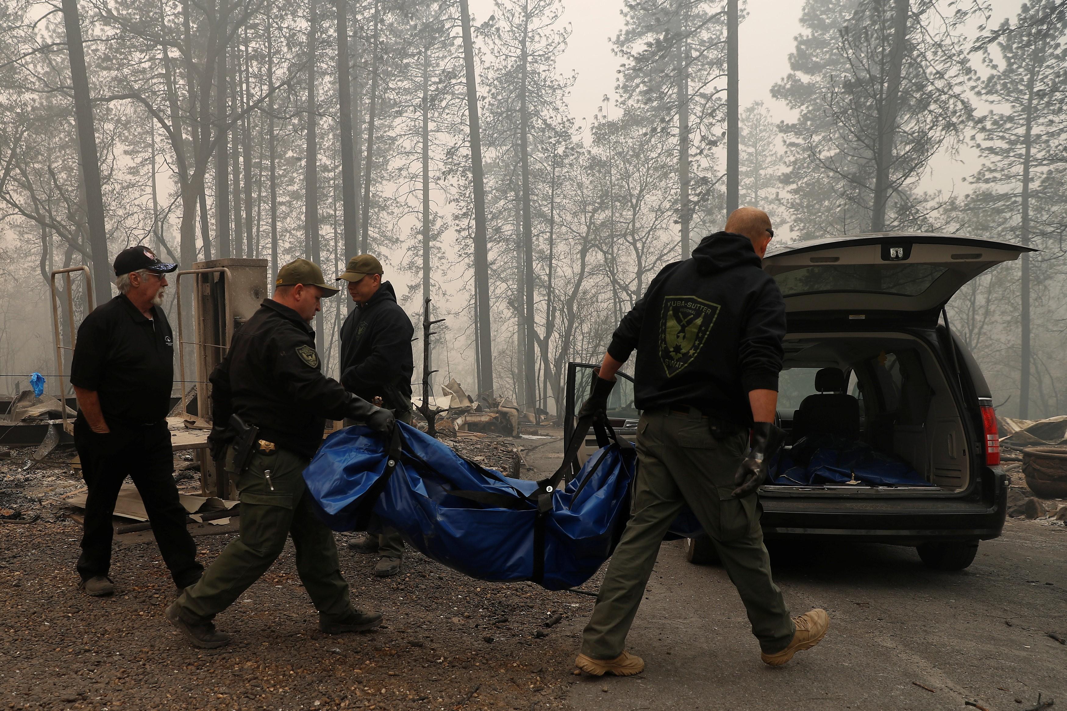 Número de mortos em incêndios na Califórnia sobe para 25