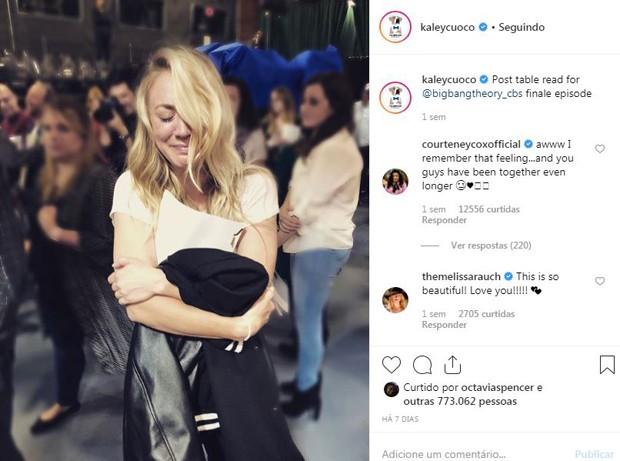 Kaley Cuoco emociona fãs ao chorar em final de The Big Bang Theory (Foto: Reprodução / Instagram)