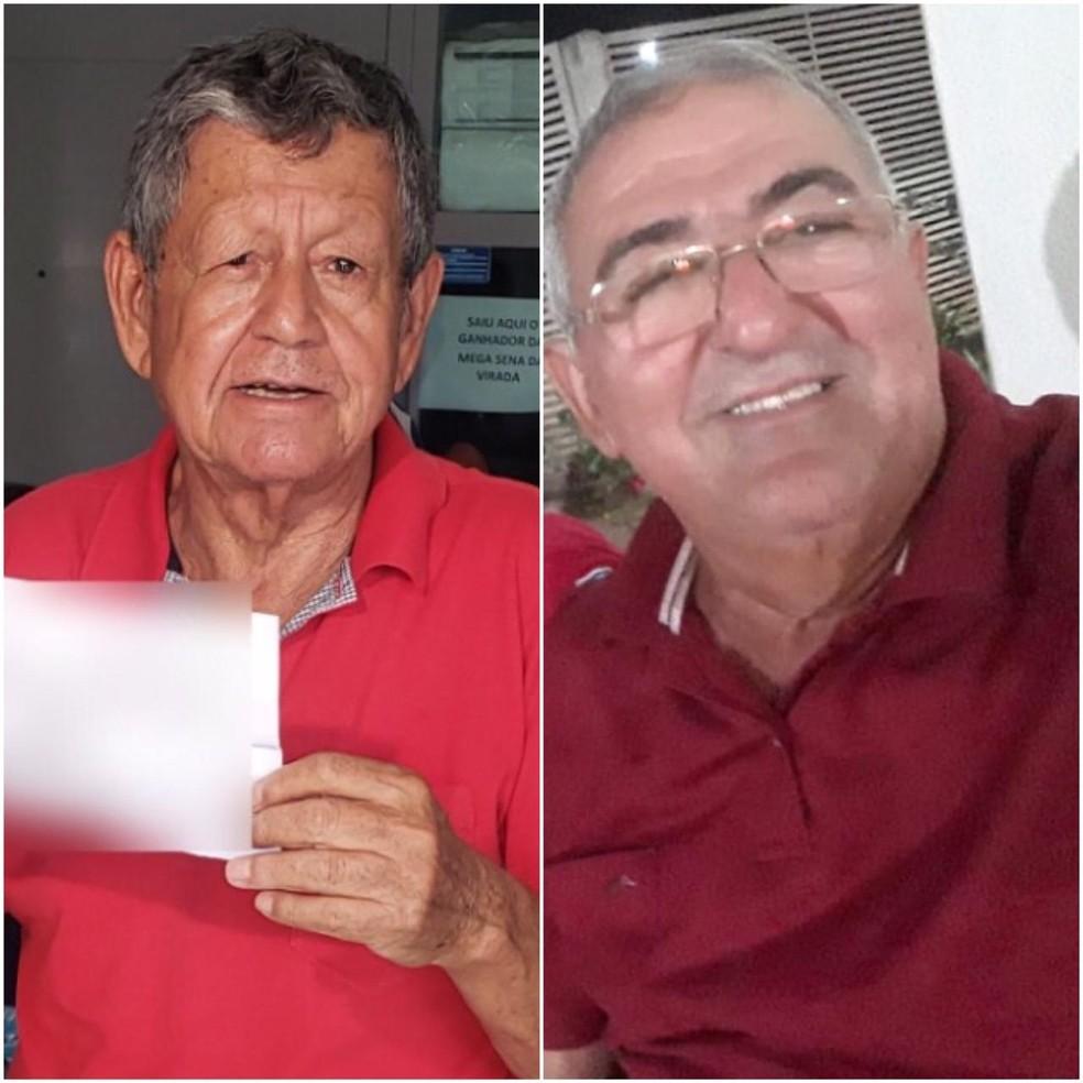 Fidelcílio José e Paulo Batista estão entre os ganhadores da Mega-Sena — Foto: Ianara Garcia/TVCA/Paulo Batista/Arquivo pessoal