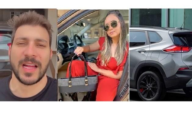 Caio Afiune e Waleria Mota têm carro avaliado em R$ 100 mil (Foto: Reprodução)