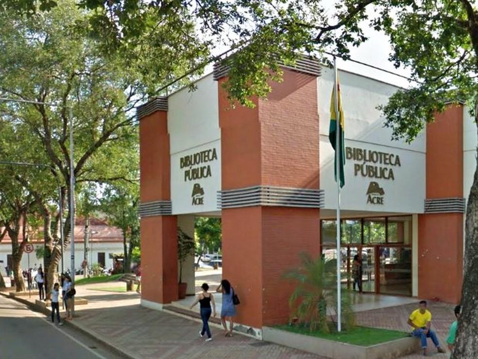 Ap�s mais de 4 meses, filmoteca continua exibindo somente mostra de filmes infantis em Rio Branco  (Foto: Reprodu��o/Google Maps)