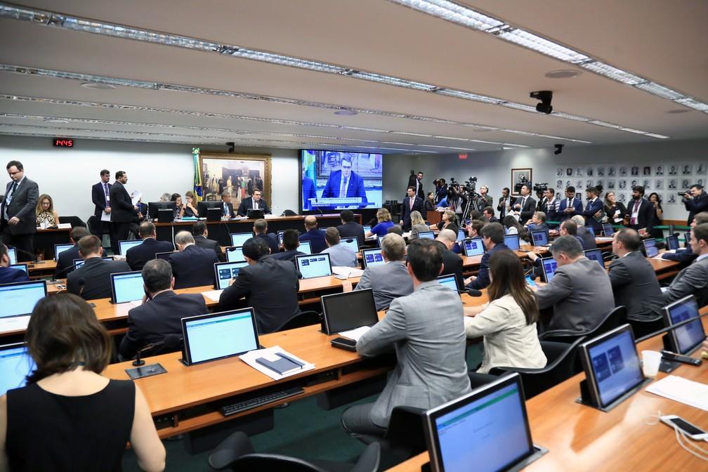 Reunião na CCJ discute a proposta de reforma da Previdência — Foto: Alex Ferreira/Câmara dos Deputados