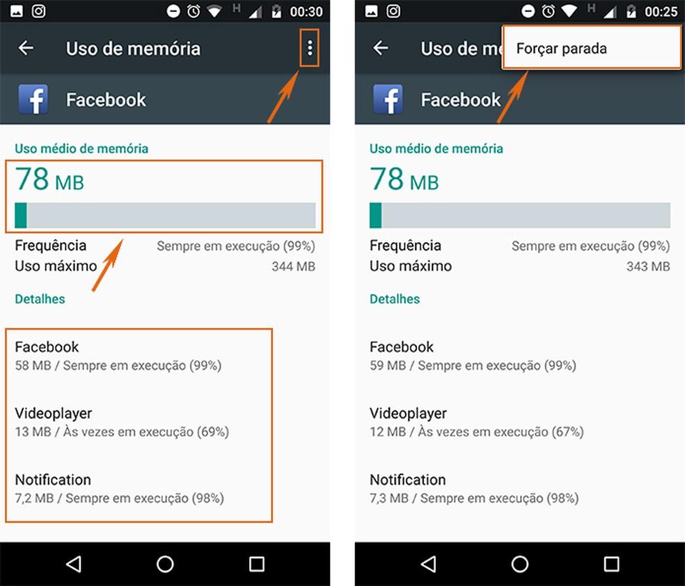 Force a parada de apps que consumam muita memória RAM no celular Android (Foto: Reprodução/Barbara Mannara)