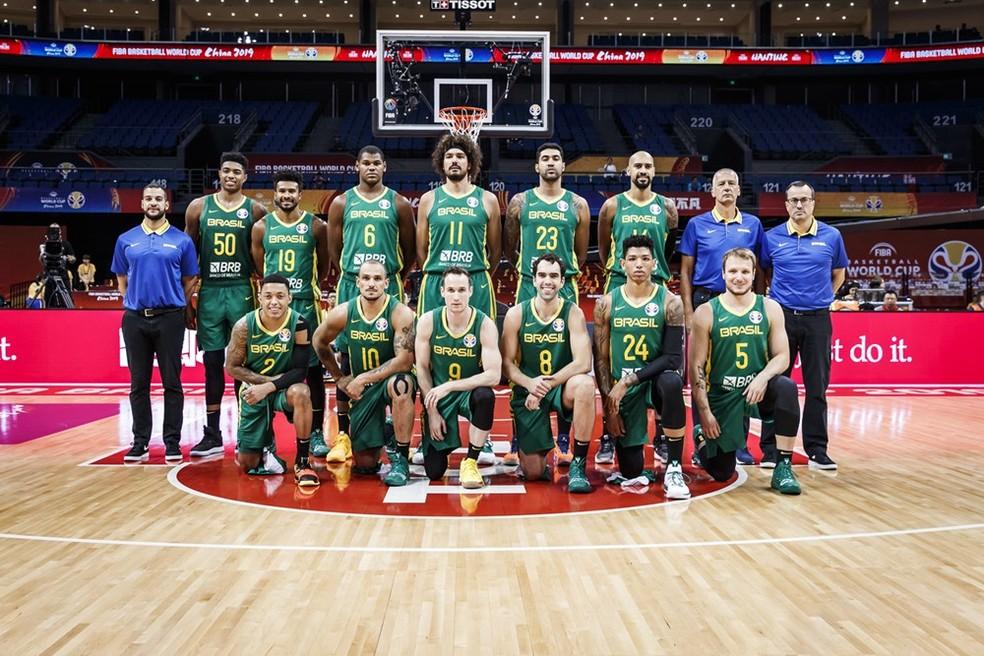 Seleção brasileira no Mundial de basquete — Foto: Divulgação Fiba