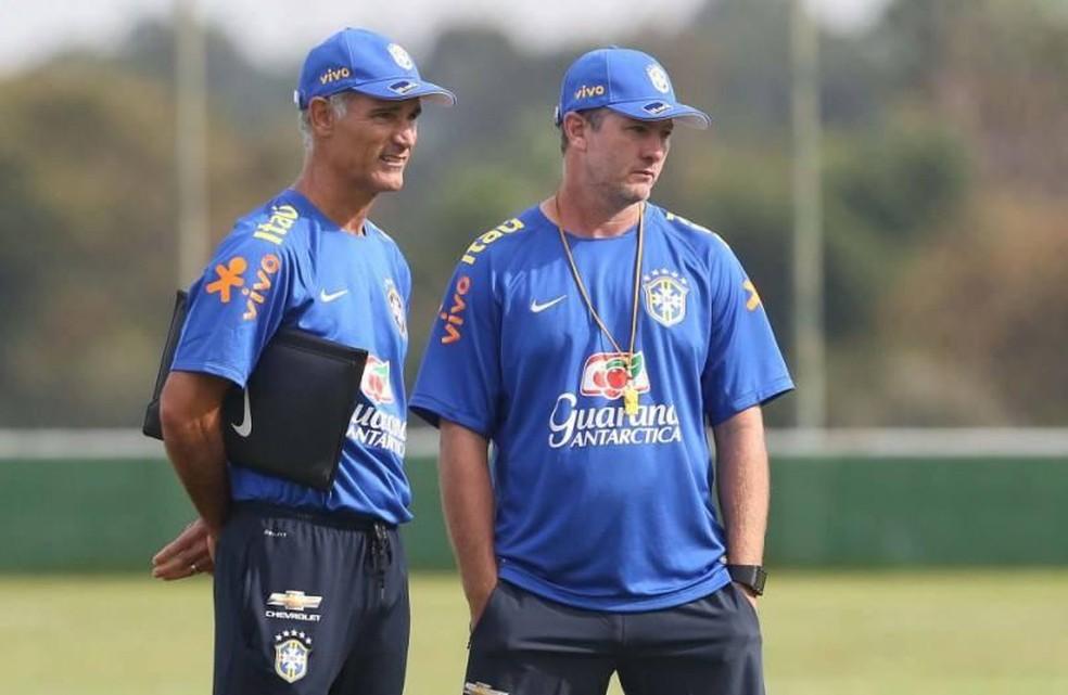 Amadeu e Odair na seleção sub-17 — Foto: CBF