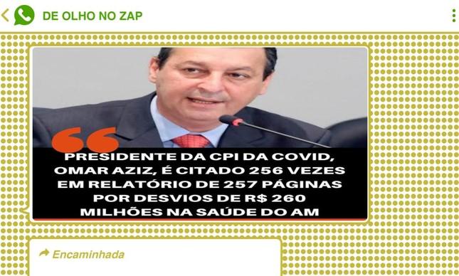 Presidente da CPI da Covid, senador Omar Aziz (PSD-AM) foi um dos principais alvos de grupos bolsonaristas nesta quinta-feira (29)