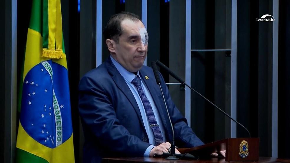 Senador Jorge Kajuru — Foto: Reprodução/TV Senado