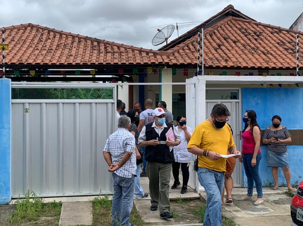 Idoso é assassinado com golpe de machado em casa de repouso, em Campina Grande — Foto: Amy Nascimento/TV Paraíba
