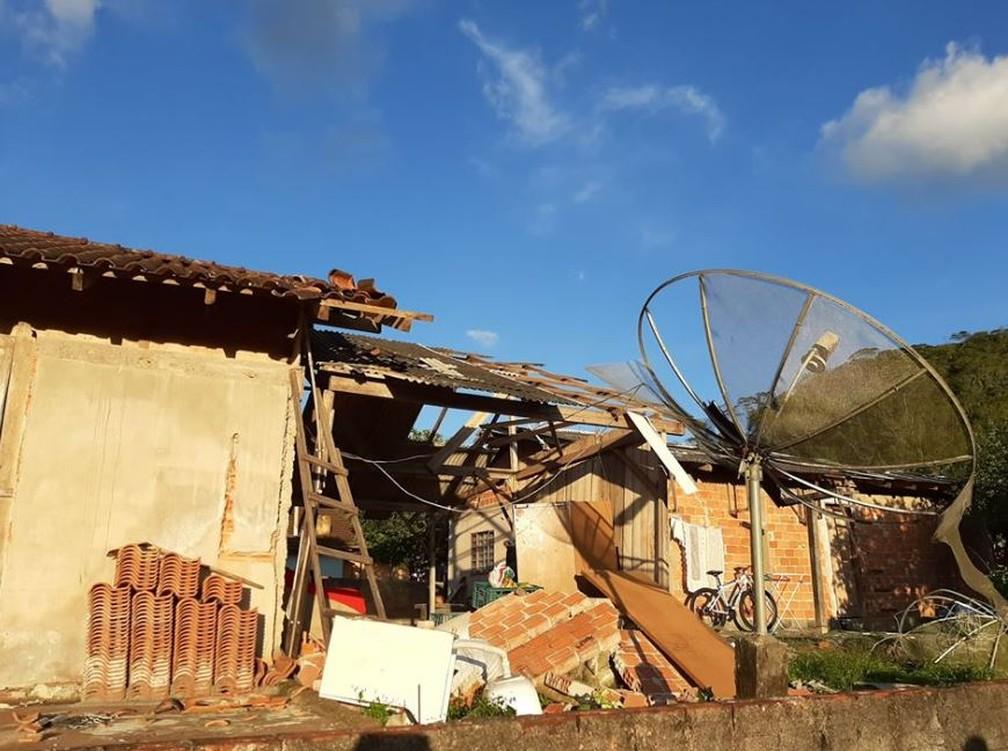 Estragos em Corupá — Foto: Prefeitura de Corupá/ Divulgação