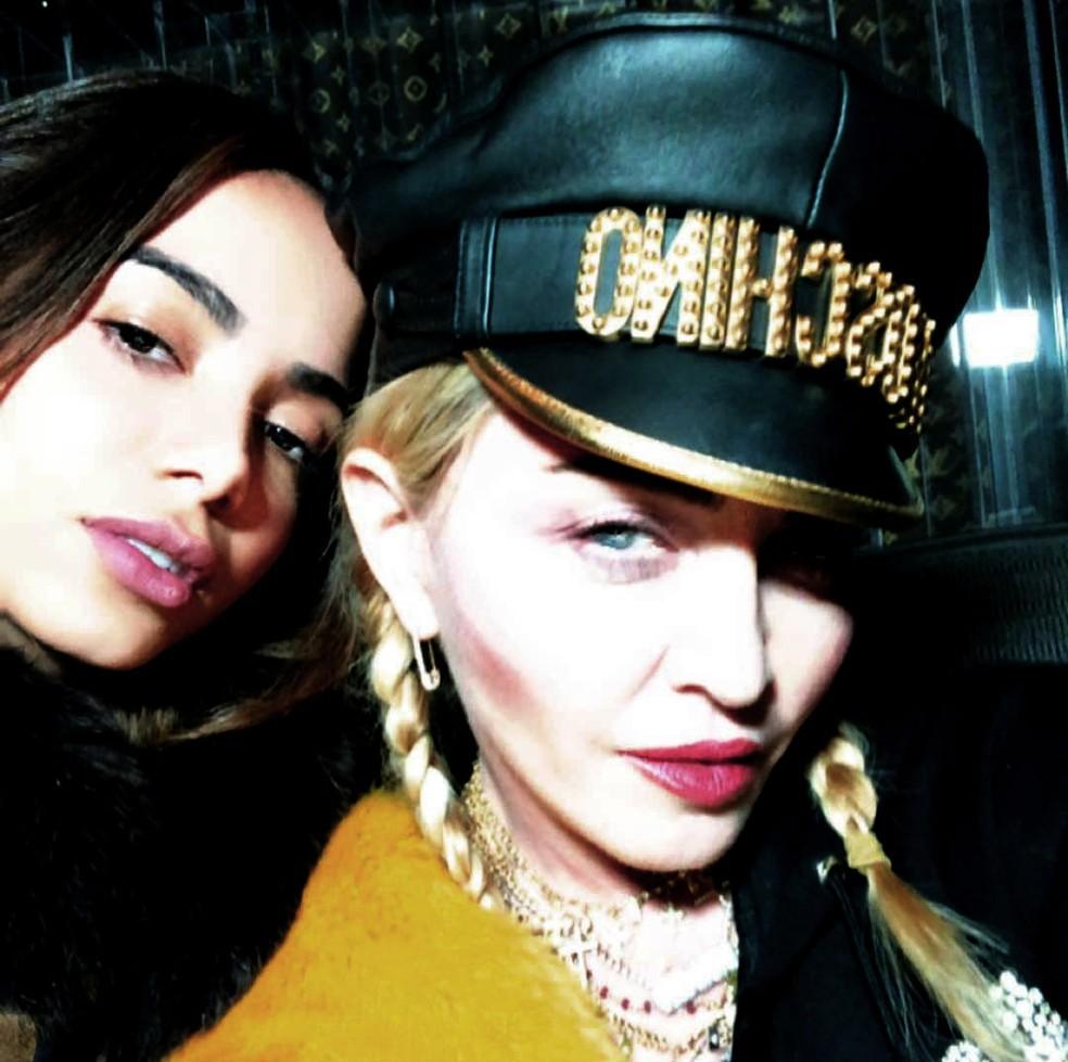 Anitta com Madonna — Foto: Reprodução / Instagram