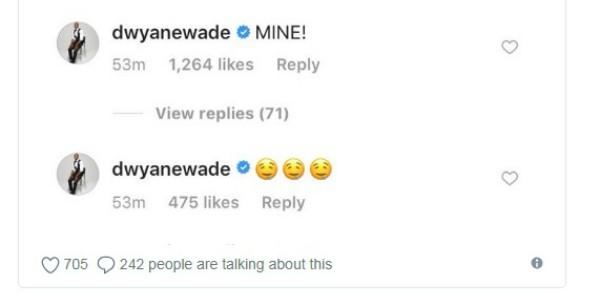 Comentário de Dwayne Wade (Foto: Reprodução)
