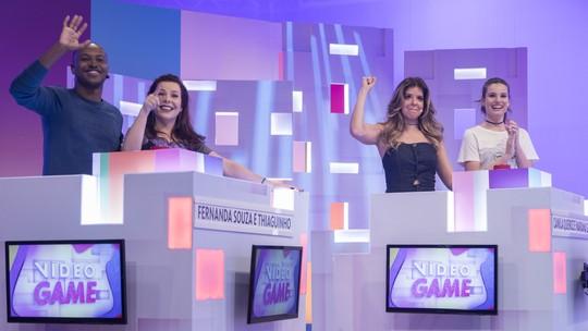 Thiaguinho e Fernanda Souza vencem Mariana Santos e Camila Queiroz na volta do 'Vídeo Game'