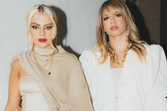 Luisa Sonza e Marília Mendonça em bastidores do clipe (Foto: Reprodução)