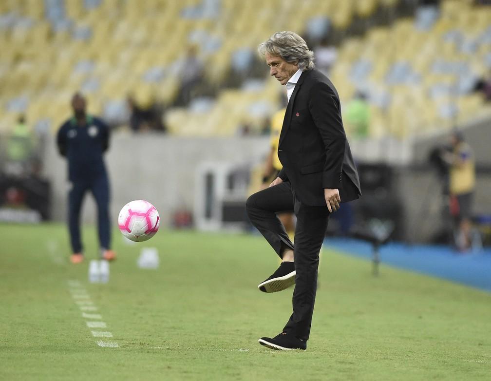 Jorge Jesus, técnico do Flamengo — Foto: André Durão