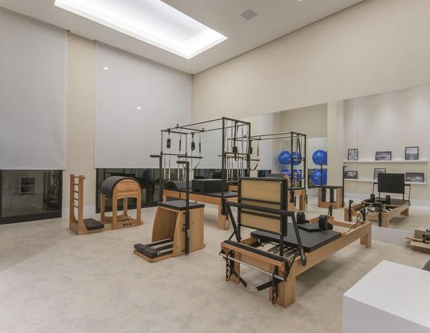 Espaço para a prática de pilates  (Foto: Divulgação)