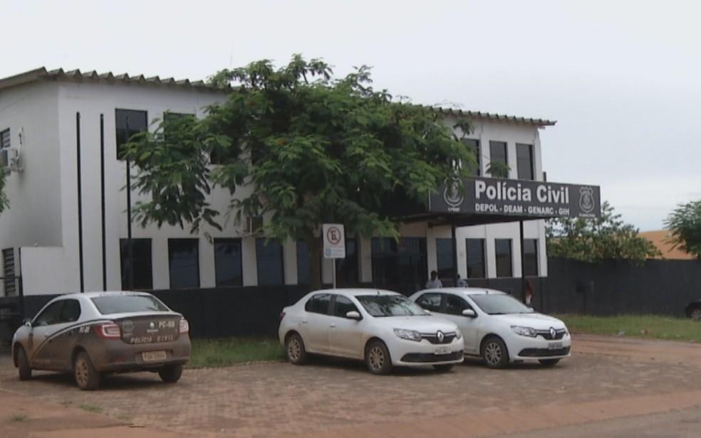 Delegacia de Planaltina de Goiás — Foto: Reprodução/TV Anhanguera