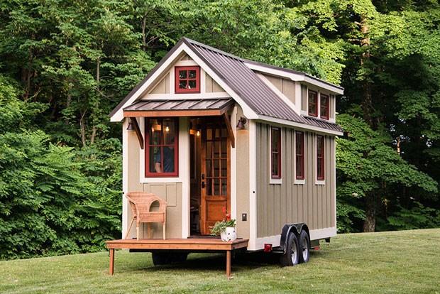 As casas da Timbercraft Tiny Homes são modernas e têm rodas (Foto: Reprodução)