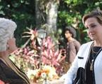 Jussara Freire e Betty Lago em cena do primeiro capítulo de 'Pecado mortal' | Divulgação