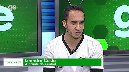 Autor do gol contra o Sport, Leandro Costa, do Central, é o convidado do Torcedor GE