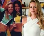 Na adolescência, Paolla Oliveira surgiu na TV como assistente de palco no 'Passa ou repassa', do SBT. A atriz está no ar como Jeiza em 'A força do querer' | Divulgação/SBT e TV Globo