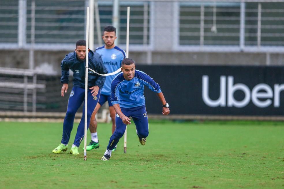 Alisson em treino do Grêmio — Foto: Lucas Uebel/Grêmio