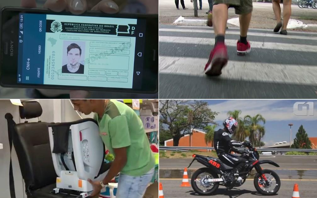 CNH digital, multa para pedestres, Isofix para cadeirinha e mais motos com freios ABS ou CBS: veja o que muda nas leis de trânsito em 2018 (Foto:  G1)