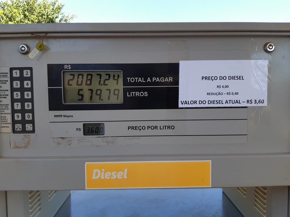Menor desconto verificado pelo G1, em Porto Velho, foi de R$ 0,40 (Foto: Toni Francis/G1)