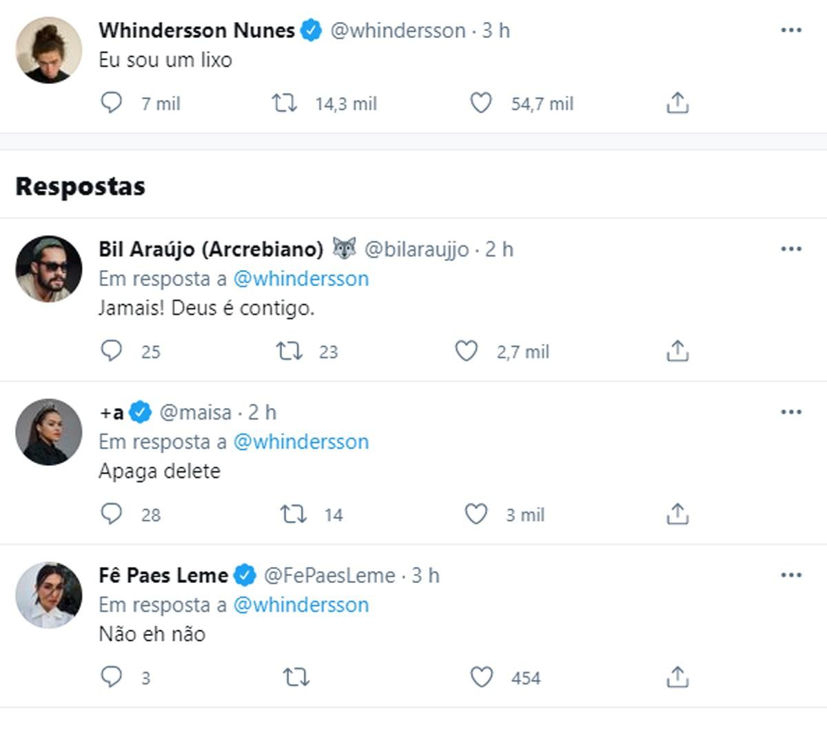 Whindersson Nunes posta 'que é um lixo' e preocupa seguidores - Quem | QUEM  News