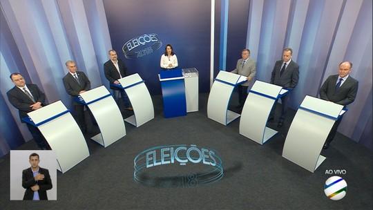 Candidatos ao governo de MS participam de debate na TV Morena