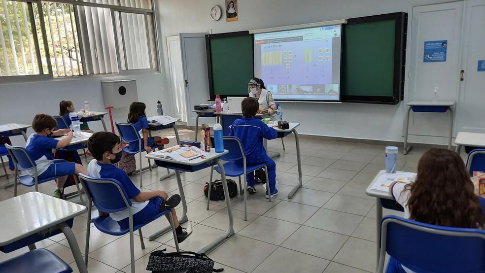Instituto Educacional Imaculada adotou diversas medidas para retorno às aulas presenciais. — Foto: Crédito: Divulgação