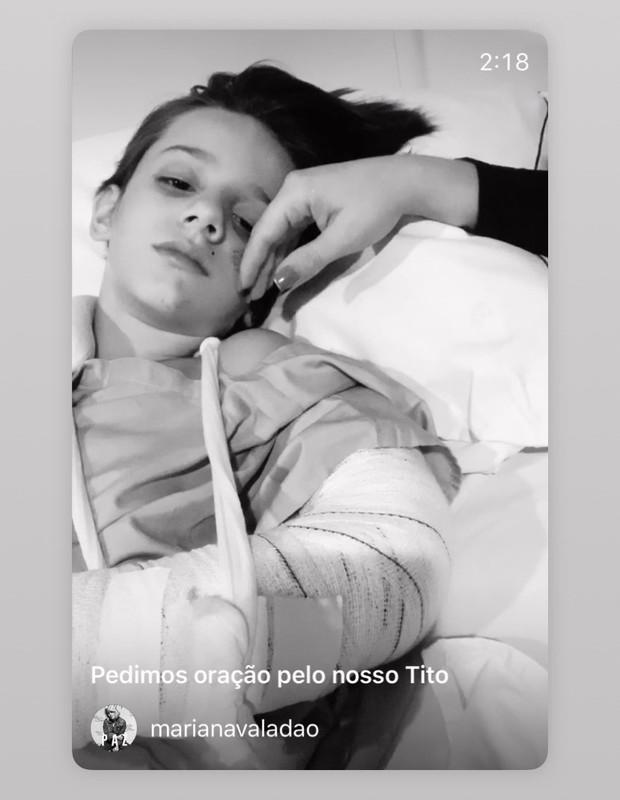 Tito, filho de Mariana e Felippe Valadão (Foto: Reprodução/Instagram)