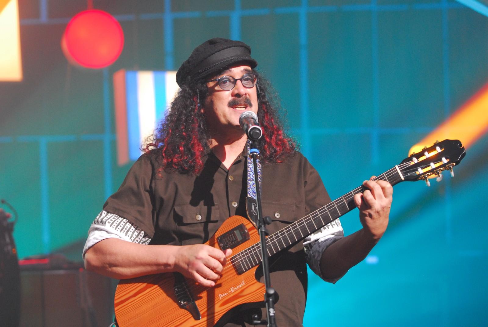 Moraes Moreira foi homenageado no programa Som Brasil em 2009 — Foto: TV Globo / Zé Paulo Cardeal