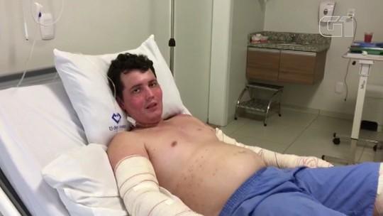Piloto paranaense que sobreviveu à queda de avião no MT agradece orações em vídeo