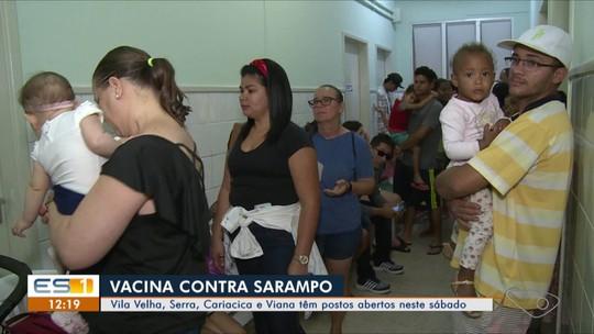 Corrida por vacinação contra sarampo provoca filas na Grande Vitória