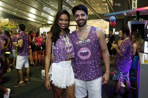 Aline Dias e Rafael Cupello (Foto: Marcos Ferreira / Brazil News)