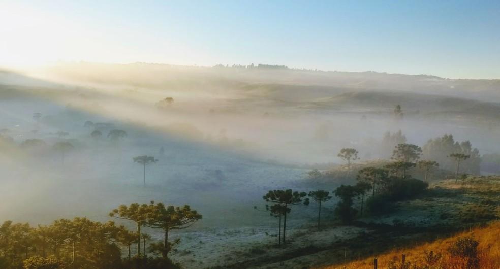 Previsão é de um dia com tempo seco e sol em SC (Foto: Mycchel Hudsonn Legnaghi/São Joaquim Online)