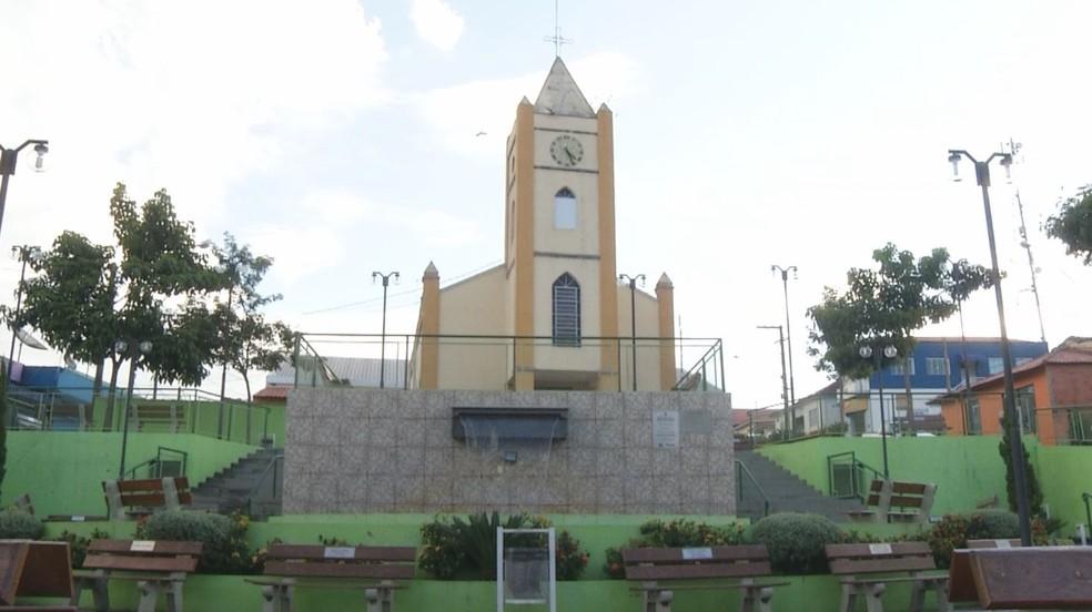 Região central de Torre de Pedra (SP) é tranquila e cidade apresenta baixo índice de criminalidade — Foto: Reprodução/TV TEM