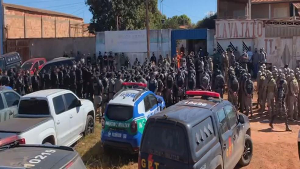 Buscas a Lázaro  envolvem cerca de 300 policiais do DF e Goiás. — Foto: TV Globo / Reprodução
