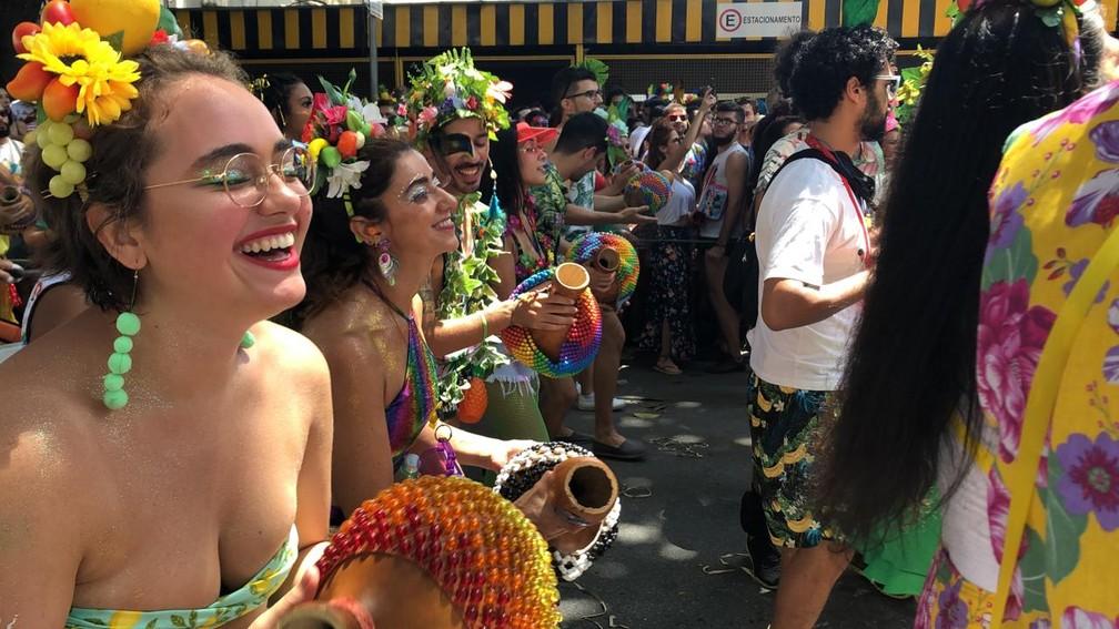 Só alegria no Alô, Abacaxi. — Foto: Carlos Amaral/Globo