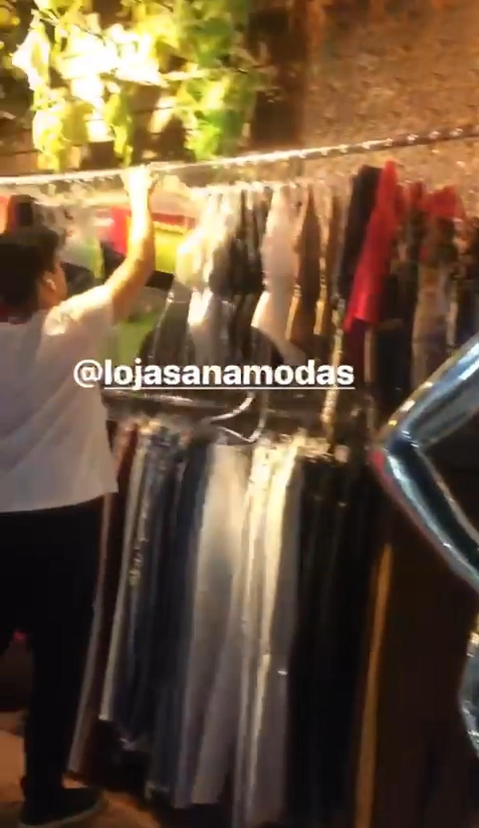 Print de vídeo publicado por uma das vítimas no dia em que relata ter sido abusada em loja de BH  — Foto: Reprodução/Redes sociais