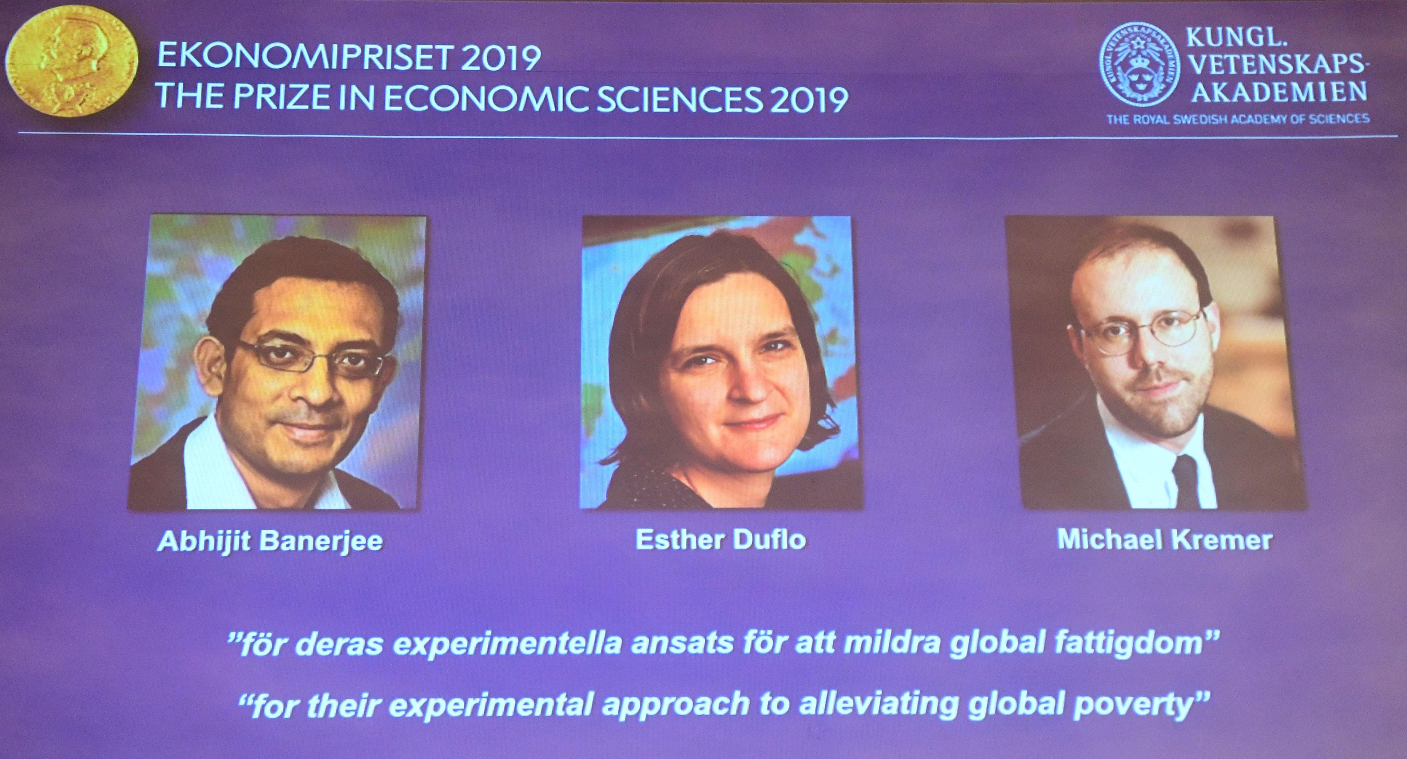 Trio ganha Nobel de Economia 2019 por pesquisas que ajudam combate à pobreza - Notícias - Plantão Diário