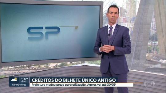 Prefeitura de SP prorroga prazo de utilização de créditos do Bilhete Único antes de invalidá-los