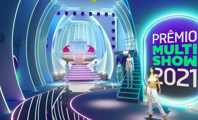 Projeto da nave da Xuxa no Prêmio Multishow (Foto: Reprodução)