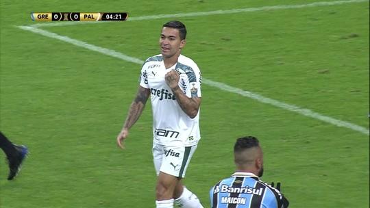 Análise: Grêmio toca a bola demais, cria de menos e esbarra na fortaleza do Palmeiras