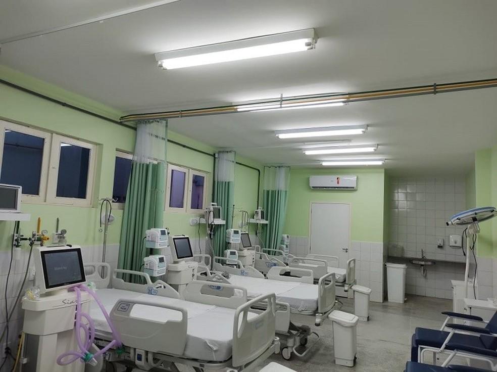 Leitos abertos no RN para atender demanda em novo aumento de casos de covid-19 no estado. — Foto: Divulgação