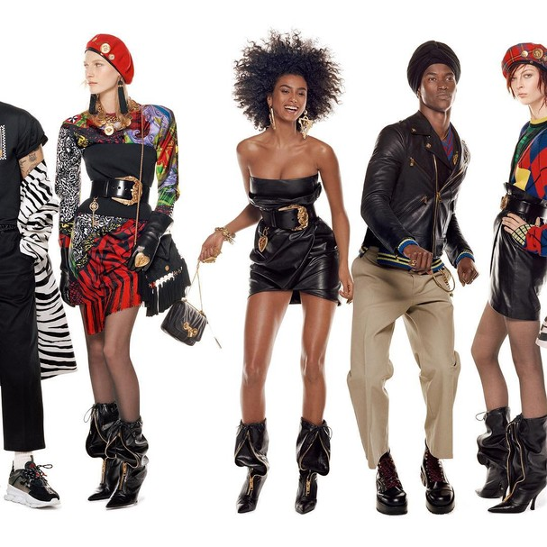 Parte do casting da Versace para a campanha de outono/inverno 2018. Ao todo, participaram 54 modelos (Foto: Divulgação/Stever Meisel)