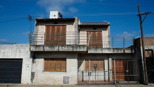 Casa onde Lionel Messi morou durante a infância, em Rosário, na Argentina (Foto: Gabriel Rossi/LatinContent/Getty Images)